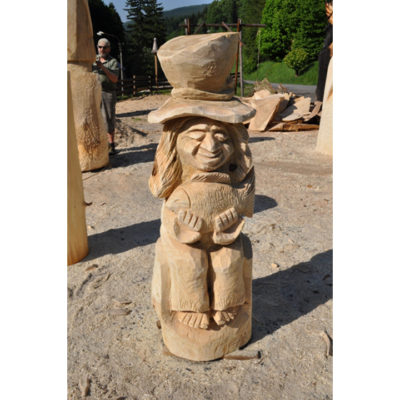 Vodníkov syn - socha z dreva