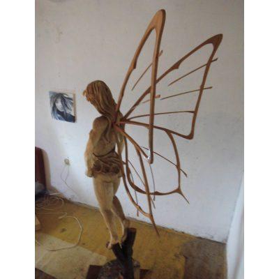Lesná víla - Socha z dreva