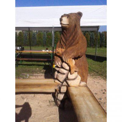 Umelecké Sochy Medvedia lavička