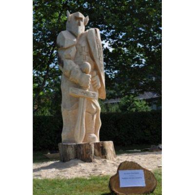Čestný rytier - socha z dreva