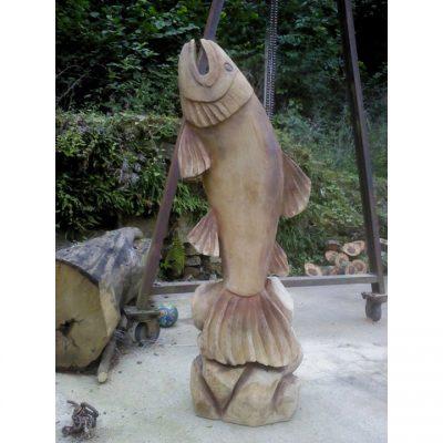 Umelecké Sochy Drevená ryba