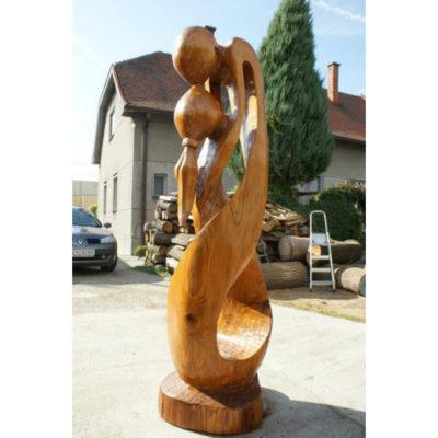 Umelecké Sochy Socha milencov - drevená skulptúra