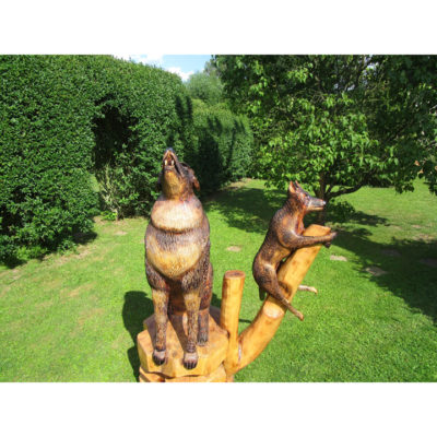 Umelecké Sochy Vlk s vĺčaťom