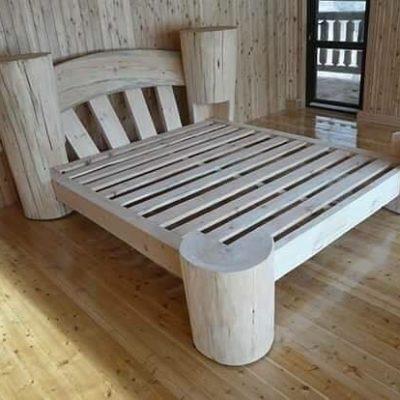 Umelecké Sochy Zrubová posteľ Liana
