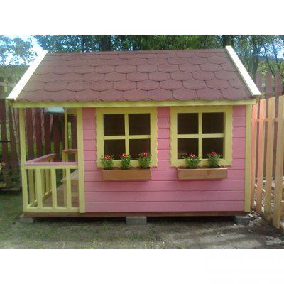 Umelecké Sochy Domček pre deti č. 1: Zahrajko s fixnými okienkami