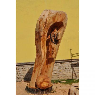 Umelecké Sochy Atypický drevený kríž